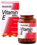 Vitamin E 600iu Natural (30 Caps)