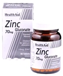 Zinc Gluconate 70mg (10mg elemental Zinc) (90 tablets)