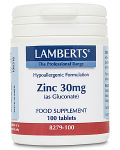 Zinc 30mg (as Gluconate)- 100 tabs